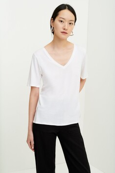 Kowtow V Neck Tee - White