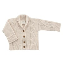 Benmore Knits Cable Knit Cardigan - Blush Pink