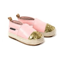 Pretty Brave - Espadrille Soft Pink with Glitter Toe