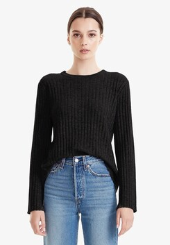 Commoners Wool/Cashmere L/S - Black
