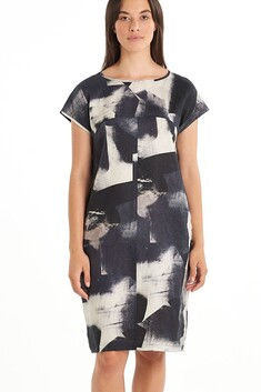 Nyne Graphic Dress - Black Ink