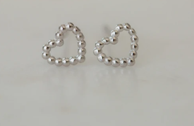 Sophie Dotty Love Studs - Silver