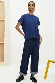 Kowtow Folding Top - Dark Blue
