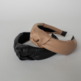 Sophie Knotty Headband Vegan Leather