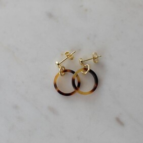 Sophie Little Tort Hoops - Gold