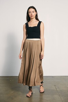 Marle Cave Skirt - Taupe
