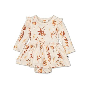 Burrow & Be Bodysuit Dress - Autumn Leaves