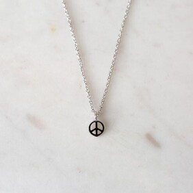 SOPHIE peace necklace - silver