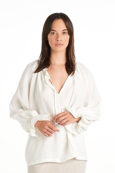 Nyne Pottery Top - Ivory Check