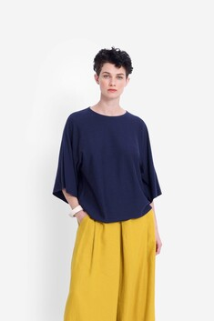 Elk Leidi Knit Top - Ink
