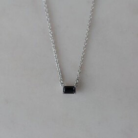 Sophie You Rock Necklace Black - Silver