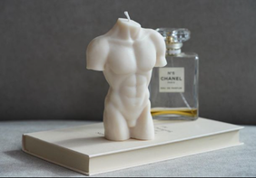 Cairo Label Male Torso Candle