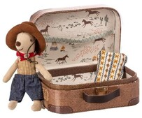 Maileg Cowboy Mouse in a suitcase