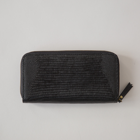 Sophie Hello Wallet - Black Croc