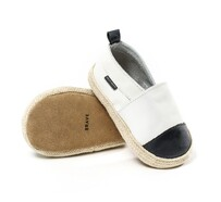 Pretty Brave White with Black Toe Espadrille - Large (12-18mths)