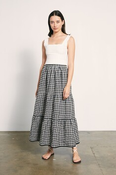 Marle Dusty Skirt - Check