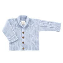 Benmore Knits Cable Cardigan - Sky Blue